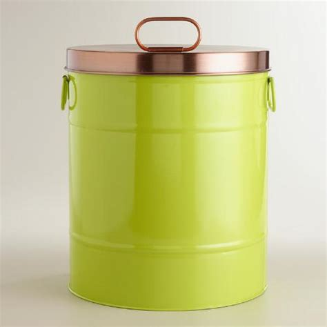 pet food storage containers apple green pet food storage container world market