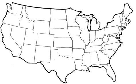 map of the united states not labeled united states map template blank with us map states not