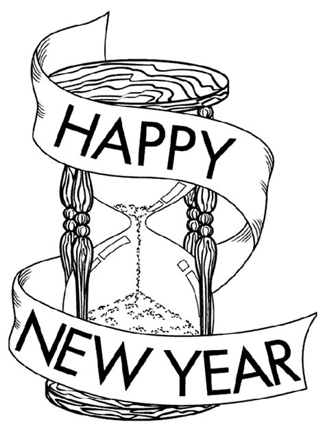 years hour glass coloring page crayolacom