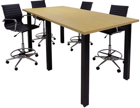 Standing Meeting Table Standing Height Conference Tables W Black Legs 5 Laminate Choices 8 Length See Other Sizes