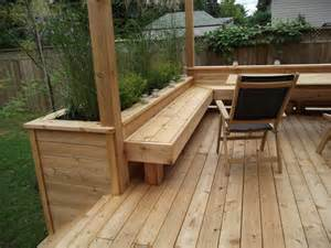 built in deck planters my gardens