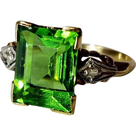 Verdelite Green Tourmaline green verdelite tourmaline ring 6 from opheliagrace on