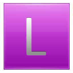 Pink L by Letter L Pink Icon Multipurpose Alphabet Iconset