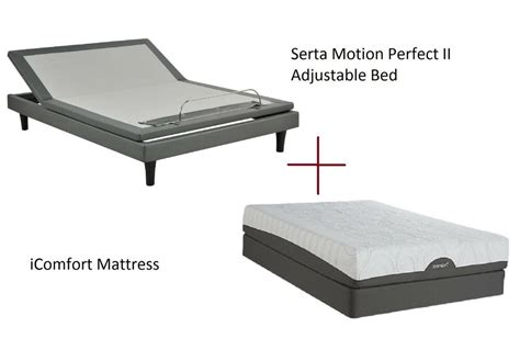 serta split king size motion ii adjustable bed with icomfort mattress ebay