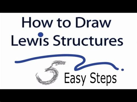 how to make a dot diagram how to draw lewis structures five easy steps