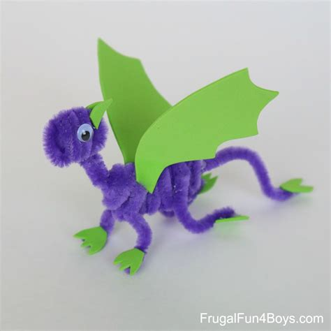 crafts  camp pipe cleaner dragons