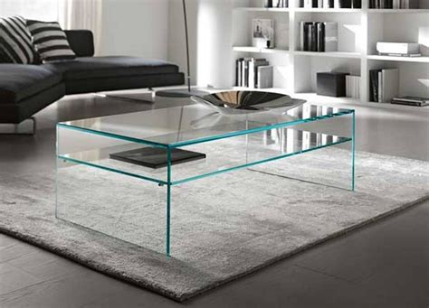 modern glass coffee table sets cool brown rectangle
