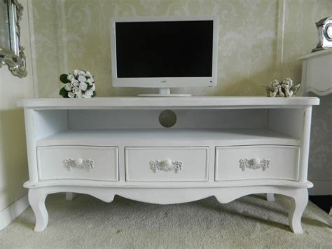 beautiful shabby chic tv cabinet on large antique white tv