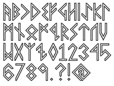 tattoo fonts simulator rune simulation fonts leather ideas runes