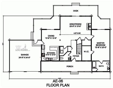 golden eagle log and timber homes floor plan details ae 06
