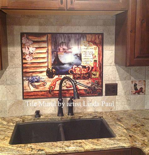 about our tumbled stone tile mural backsplashes and accent louisiana kitchen tile backsplash cajun art tiles