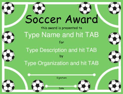 football certificates templates uk award certificate templates