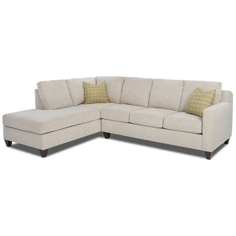 Sectional Sofas Furniture Klaussner Bosco Contemporary 2 Sectional With Left