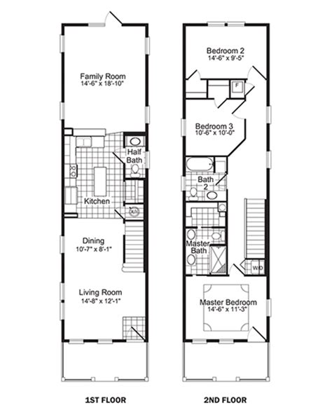 Narrow Lot 2 Story House Plans narrow lot floor plans floor inc plannarrow lot house