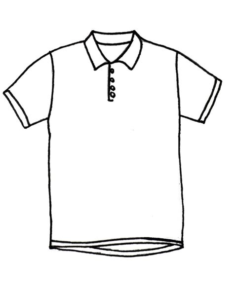 Drawing T Shirt Outline by Polo Clipart Clipground