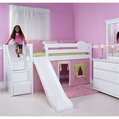 slide bed kids bunk beds with stairs and slide best home design 2018
