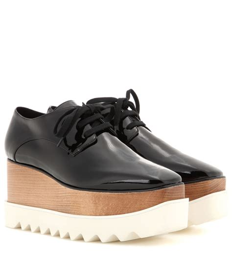 stella mccartney sneakers stella mccartney britt platform derby shoes in black lyst