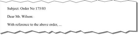 Business Letter Anrede Gesch 228 Ftsbrief Betreffzeile