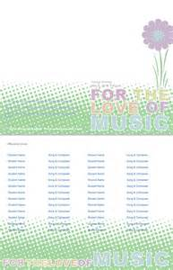 recital program template free customizable recital program templates
