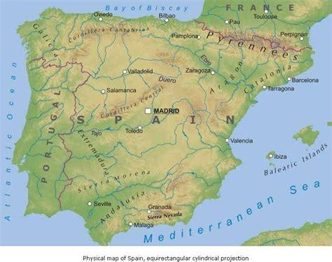 porto della spagna cartina muta della spagna e portogallo