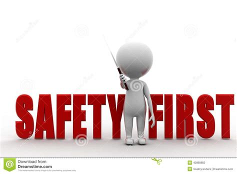 safety man clip art stock photography 3d man safety first image 42880882