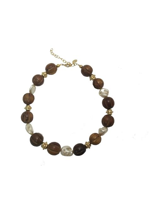 Kalung Susun Brown Pearl Sale Impor susan shaw wood pearl necklace from louisiana by shoptiques