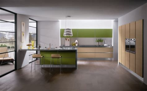 moderne häuser 2018 la cucina si tinge di verde casa design