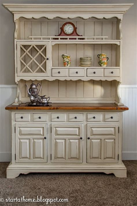 Refinish Your Kitchen Cabinets by Start At Home A Beautiful Hutch Makeover