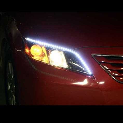 Car Led Lights Strips Led Headlight Strips White Car Truck Kit 2 Bright Led Headlight Like Audi
