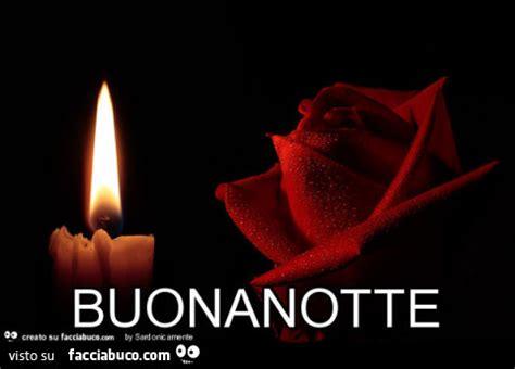 candela accesa rosa rossa e candela accesa buonanotte facciabuco