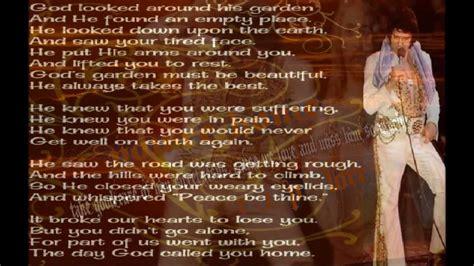 elvis presley   homeprecious lord  lyrics youtube
