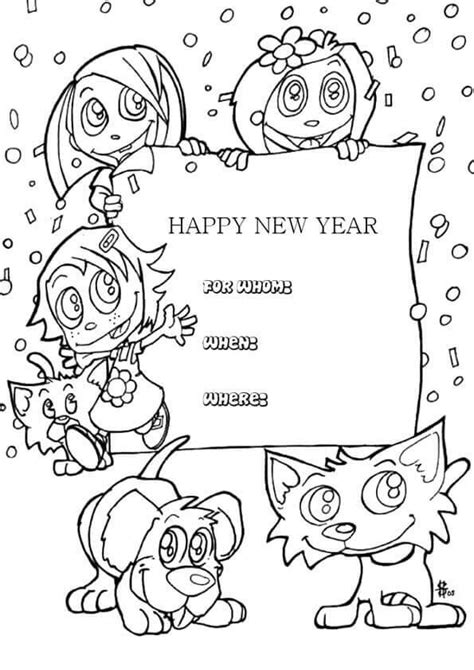 coloring page new year 2018 printable new year 2018 coloring pages