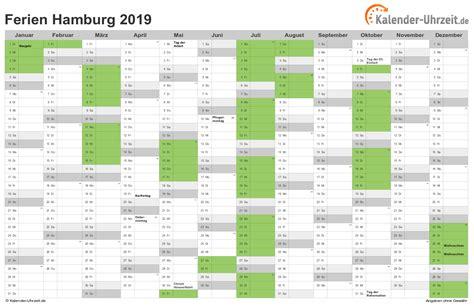 Kalender 2018 Hamburg Schulferien Ferien Hamburg 2019 Ferienkalender Zum Ausdrucken