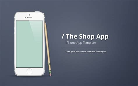 iphone app logo template iphone app presentation template improve presentation