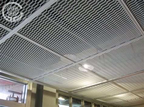 Ceiling Tile Sheets Aluminum Stretched Mesh Ceiling Metal Hanging Sheet