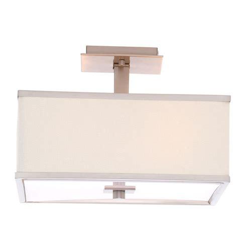 lighting store menlo park hton bay menlo park 4 light brushed nickel semi flush