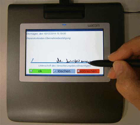 werkstatt portal modul die elektronische unterschrift werkstatt portal