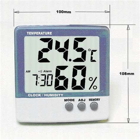 Thermometer Hygrometer Digital 1 digital thermometer hygrometer with clock thc1 china