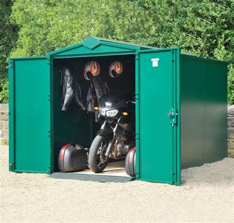 11 x 5 asgard motorcycle secure storage garage plus what
