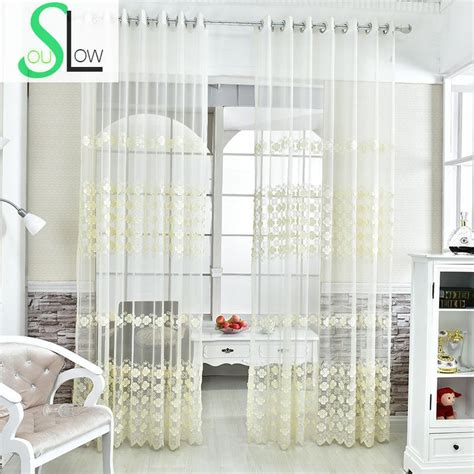 cream embroidered curtains cream embroidery yarn mesh curtain floral embroidered