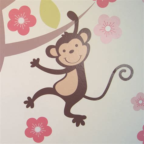 blossom tree wall stickers pastel blossom tree with animals wall sticker by parkins