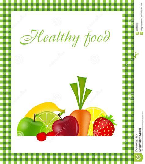 healthy food menu template vector illustration stock