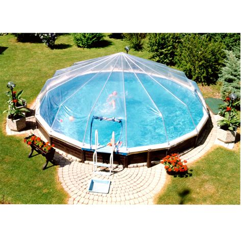 small round swimming pool for garden above ground with fabrico sun dome for round above ground pools poolstore com
