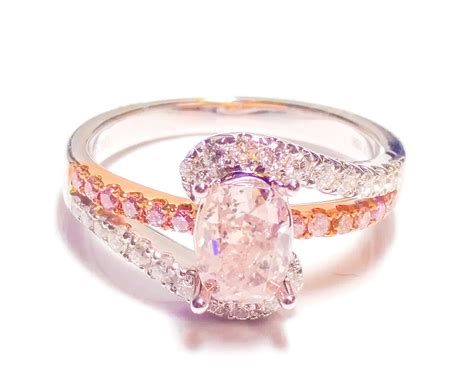 1 40ct fancy pink engagement ring cushion