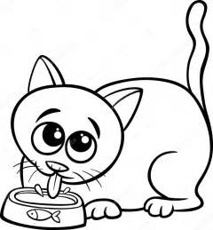 Coloring Book Cat Picie Mleka Kot Kolorowanki Grafika Wektorowa