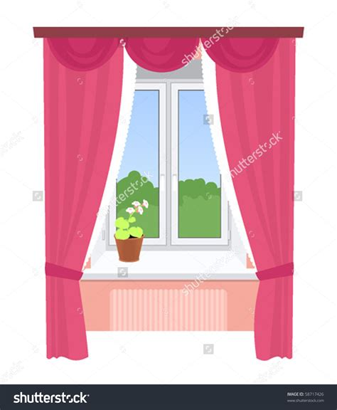 window with curtains clipart window with curtains clipart cliparts for you