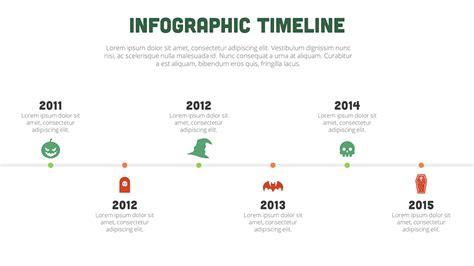 design inspiration timeline halloween themed presentation design