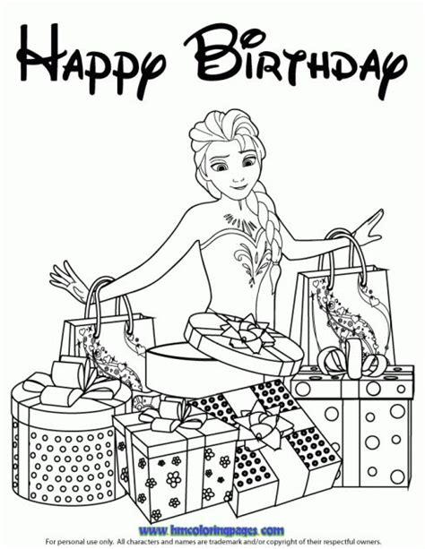 frozen coloring pages happy birthday 10 images about disney frozen birthday coloring pages on