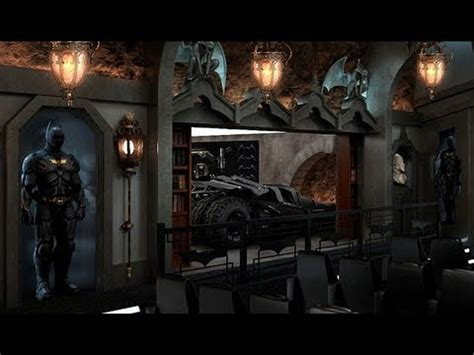 Home Movie Room Decor by Real Dark Knight Batcave Made By Millionaire Youtube