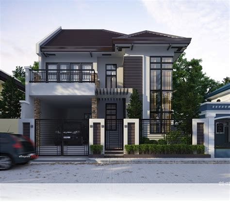 modern two storey and terrace house design ideas simple home pertaining to awesome and cozy
